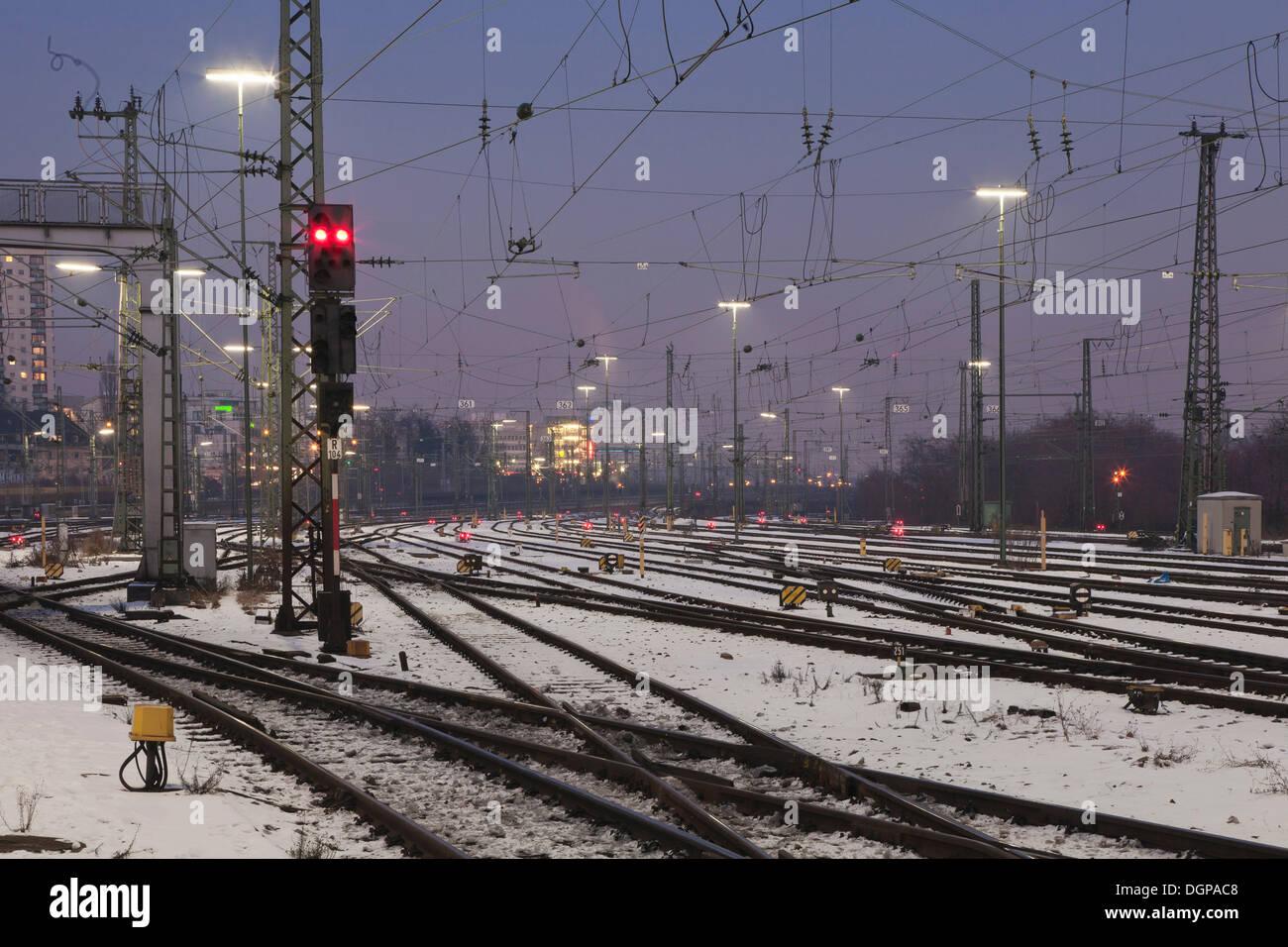 Railway tracks, Stuttgart, Baden-Wuerttemberg - Stock Image