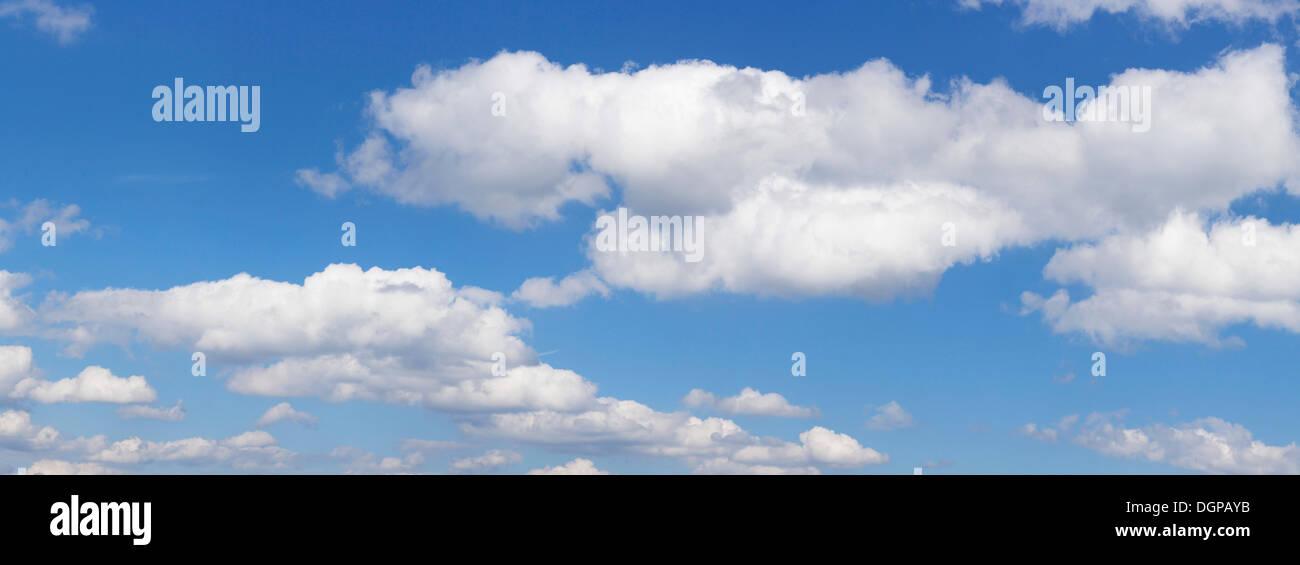 Clouds in the blue sky, Stuttgart, Baden-Württemberg, Germany - Stock Image