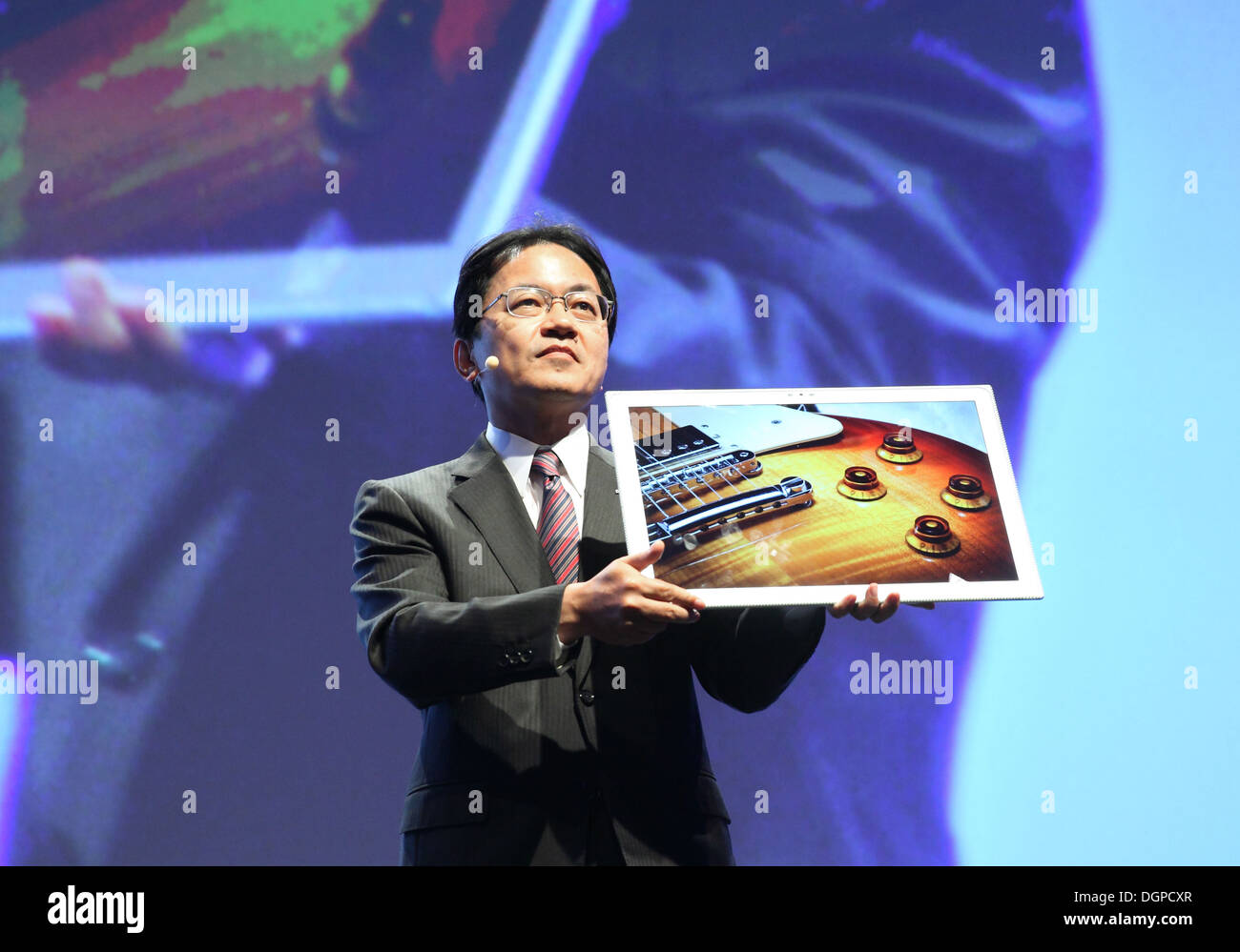 Berlin, Germany, Yoshiyuki Miyabe, president of Panasonic AVC Networks Company - Stock Image