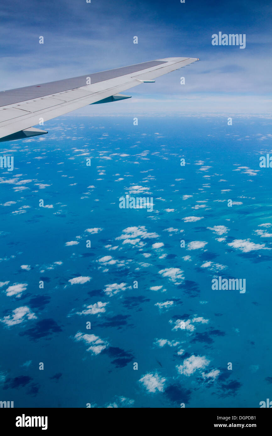 Aerial view of Bahamas in the middle of Atlantic Ocean. - Stock Image