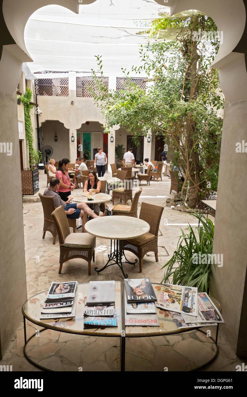 XVA hotel and art gallery in Bastakiya old district of Bur Dubai in United Arab Emirates - Stock Image