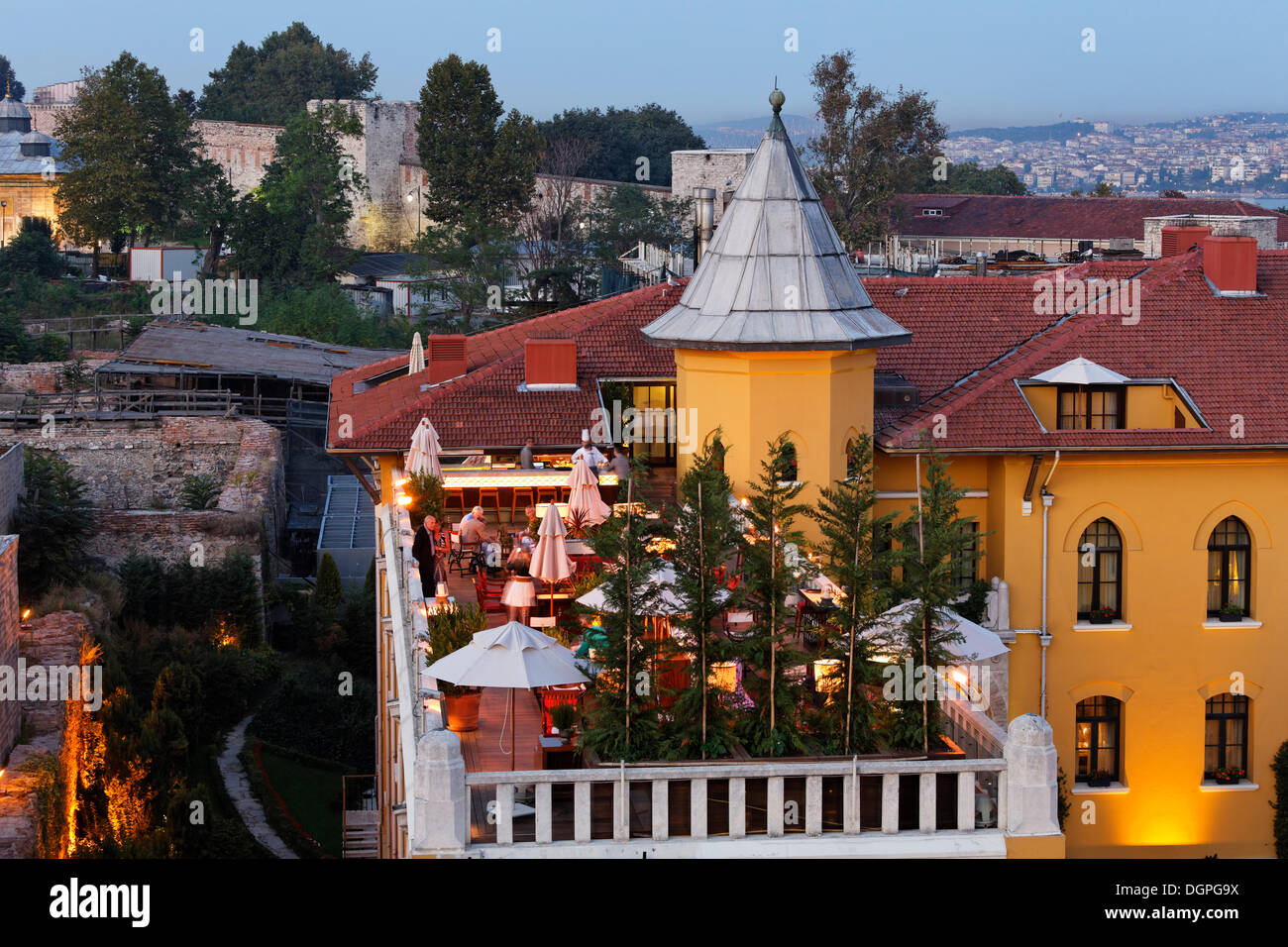 Four Seasons Hotel, Old City Sultanahmet, Istanbul, Turkey, Europe Stock Photo