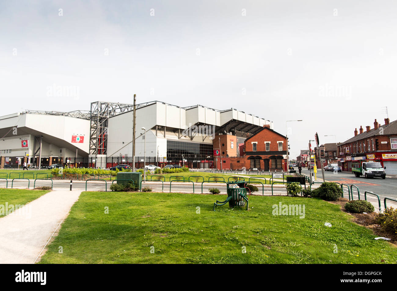 Liverpool FC stadium, Anfield. The club plans to redevelop the stadium to accommodate 60,000 fans. - Stock Image