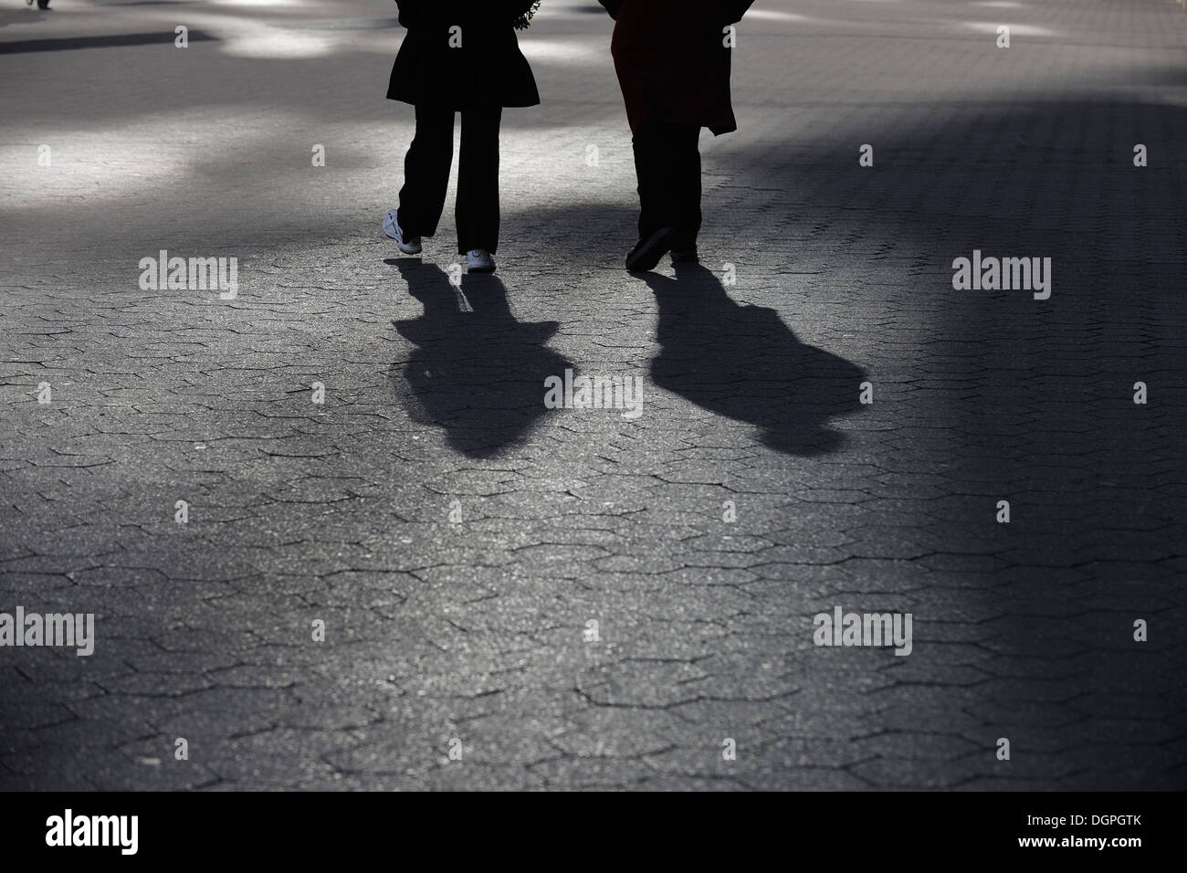 USA, New York State, New York City, Peoples walking on pedestrian Stock Photo