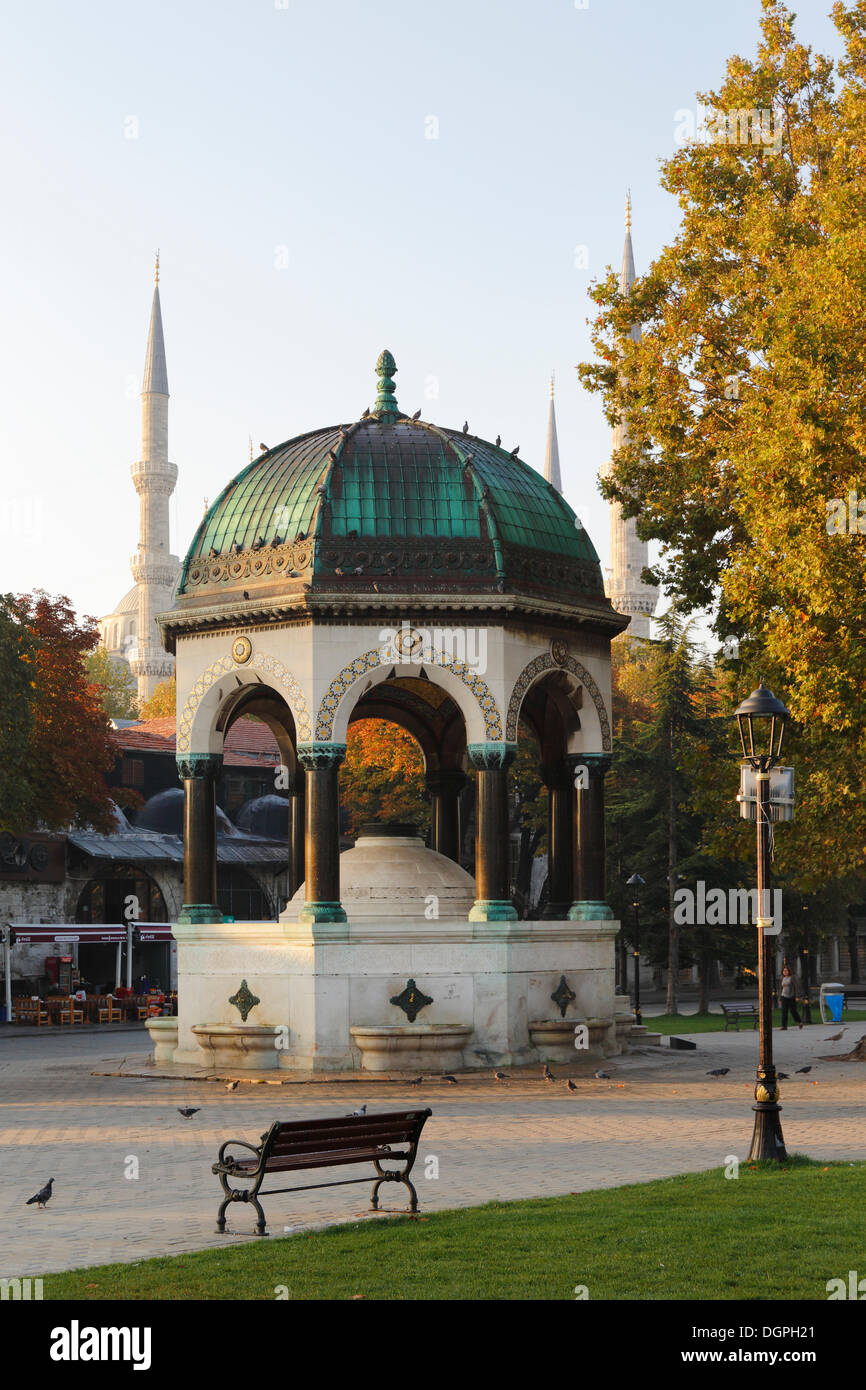 German Fountain in the Hippodrome or At Meydani square, Istanbul, European side, Istanbul Province, Turkey, European side - Stock Image