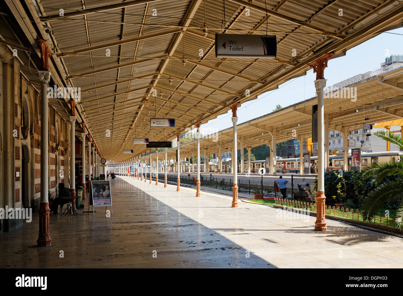 Sirkeci Railway Station, terminus of the Orient Express, Istanbul, Turkey, Europe, Istanbul, Istanbul Province, Turkey - Stock Image