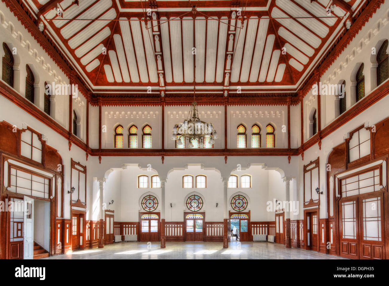 Historic waiting room in Sirkeci Railway Station, terminus of the Orient Express, Istanbul, Turkey, Europe, Istanbul - Stock Image