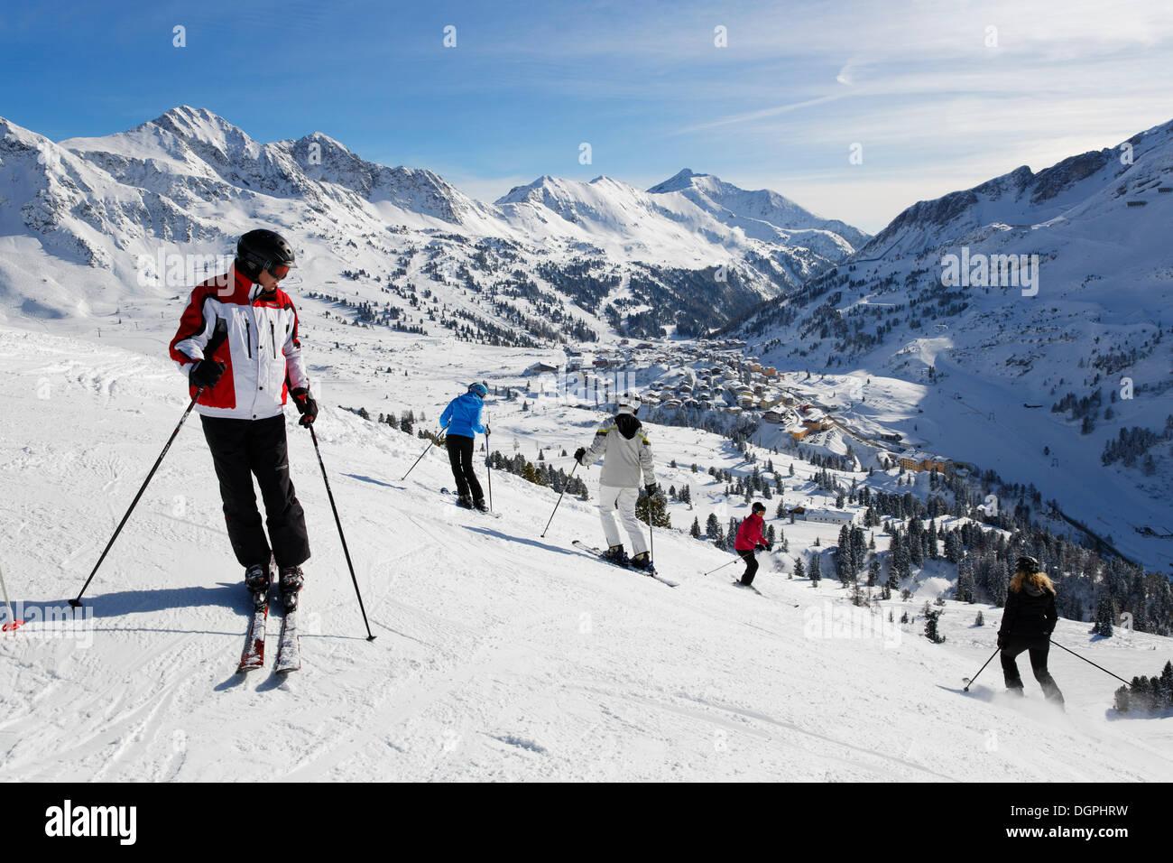 Obertauern skiing region, Obertauern, Radstädter Tauern, Salzburg State, Austria - Stock Image