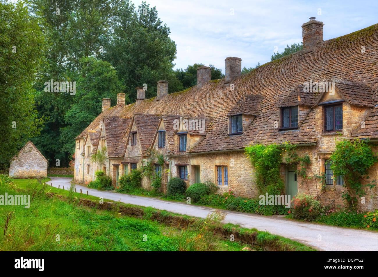 Bibury, Cotswold, Gloucestershire, England, United Kingdom - Stock Image