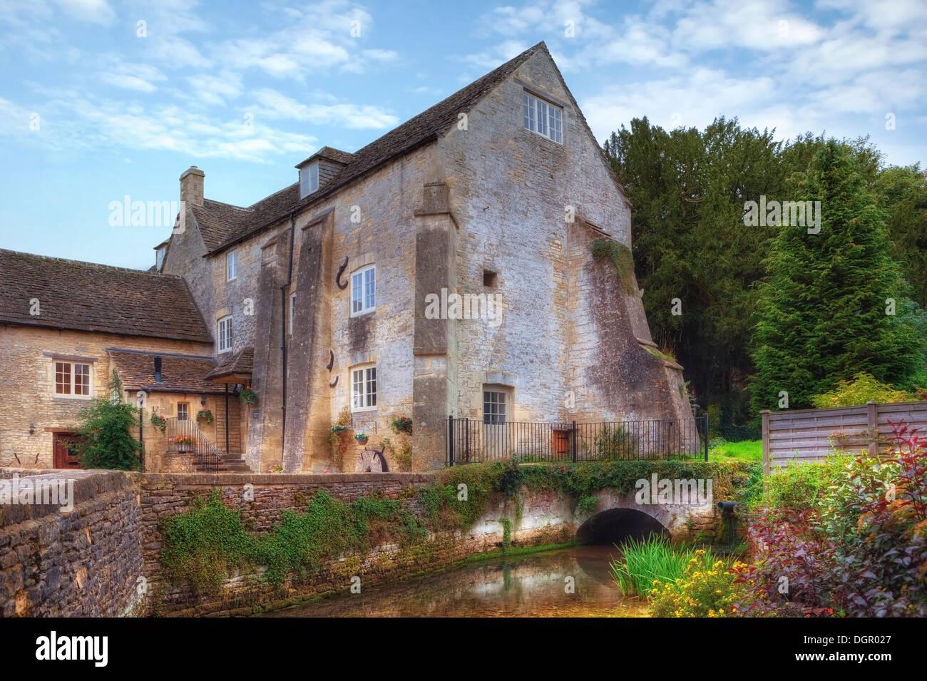 Bibury, Arlington Mill, Cotswold, Gloucestershire, England, United Kingdom - Stock Image
