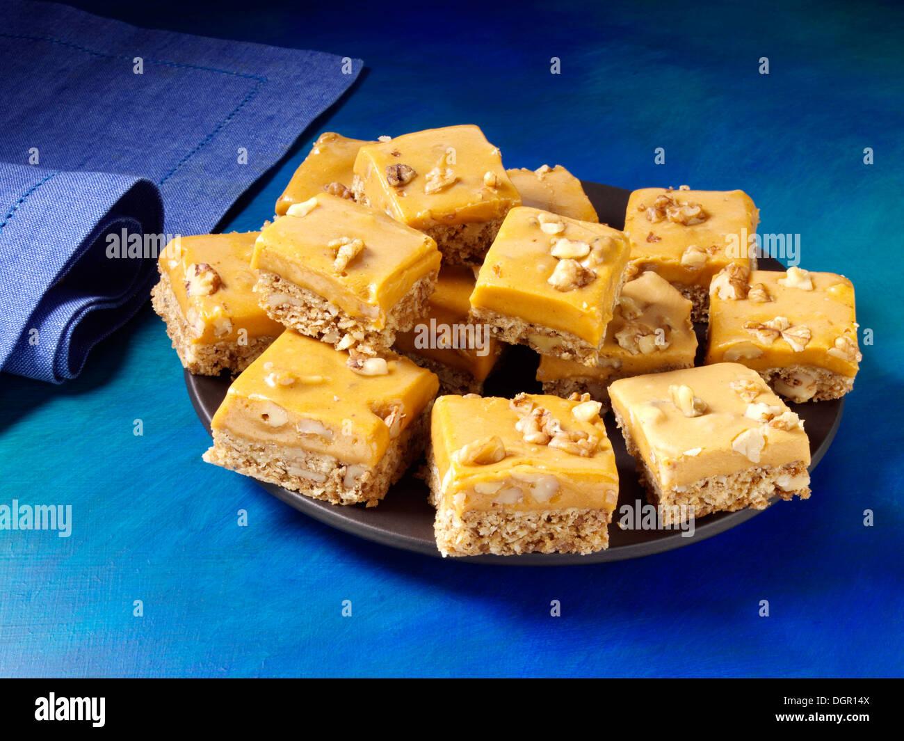Pumpkin butterscotch bars - Stock Image