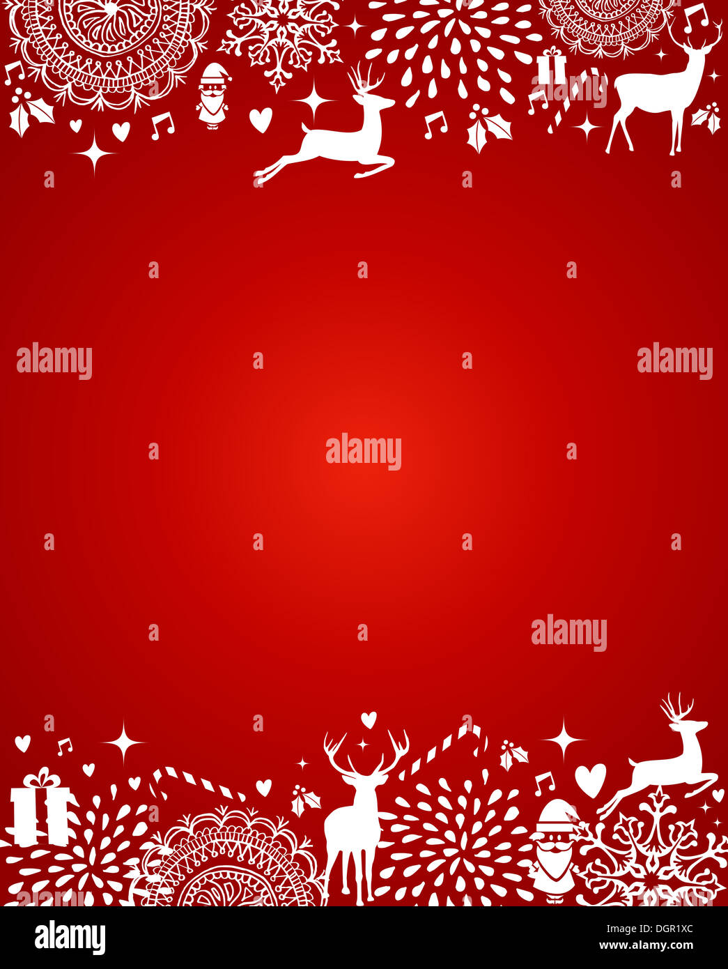 christmas decorations ornaments elements template red