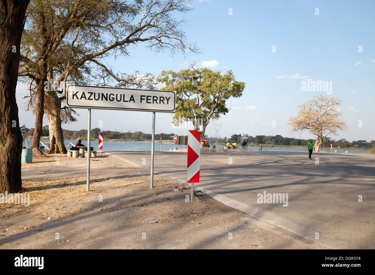 The Kazungula Ferry  Border Crossing between Botswana and Zambia , Africa - Stock Image