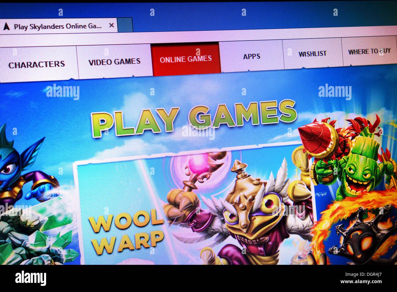 skylands online game - Stock Image