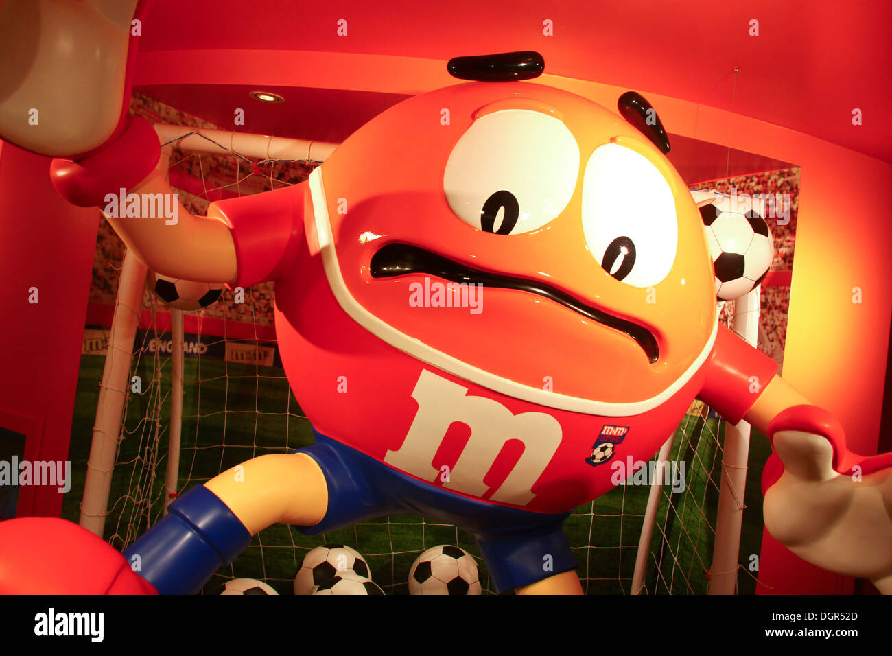 Large M&M character figure in London store - Stock Image