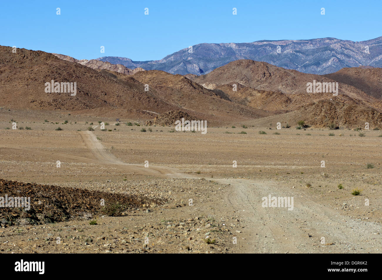 Rough road in the Richtersveld National Park - Stock Image