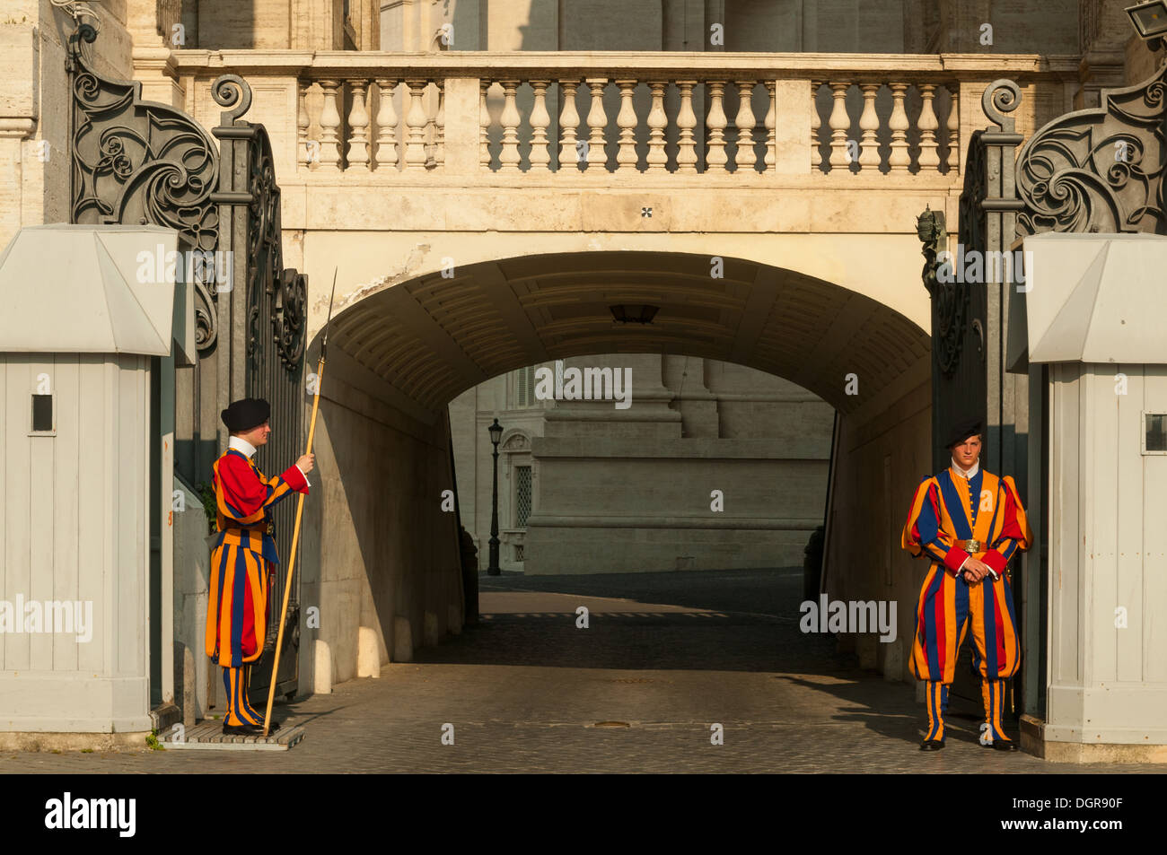Swiss Guards, St Peter's Basilica, the Vatican, Rome, Italy Stock Photo