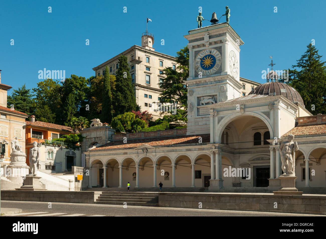 Piazza della Liberta, Udine, Friuli-Venezia Giulia, Italy - Stock Image