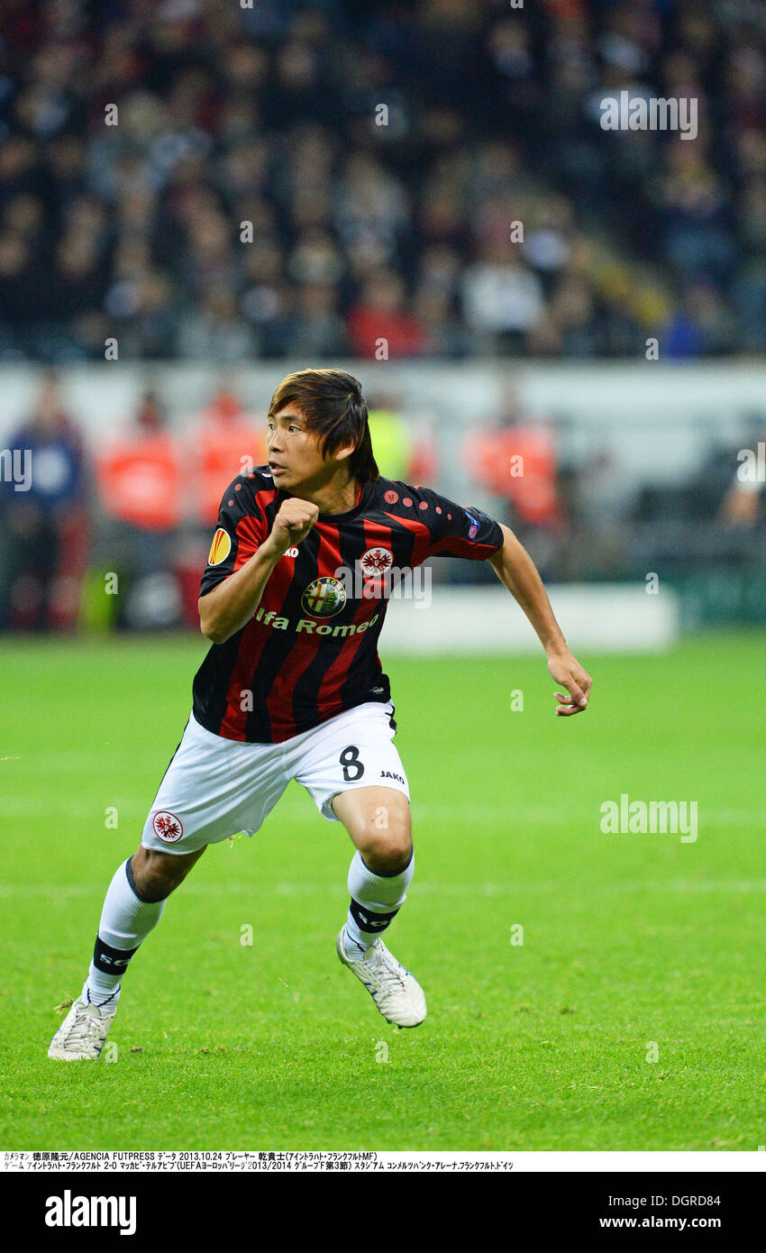 a2db1bc550a Takashi Inui (Frankfurt) Football   Soccer   Takashi Inui of Eintracht  Frankfurt in action during the UEFA Europa League group F match between  Eintracht ...