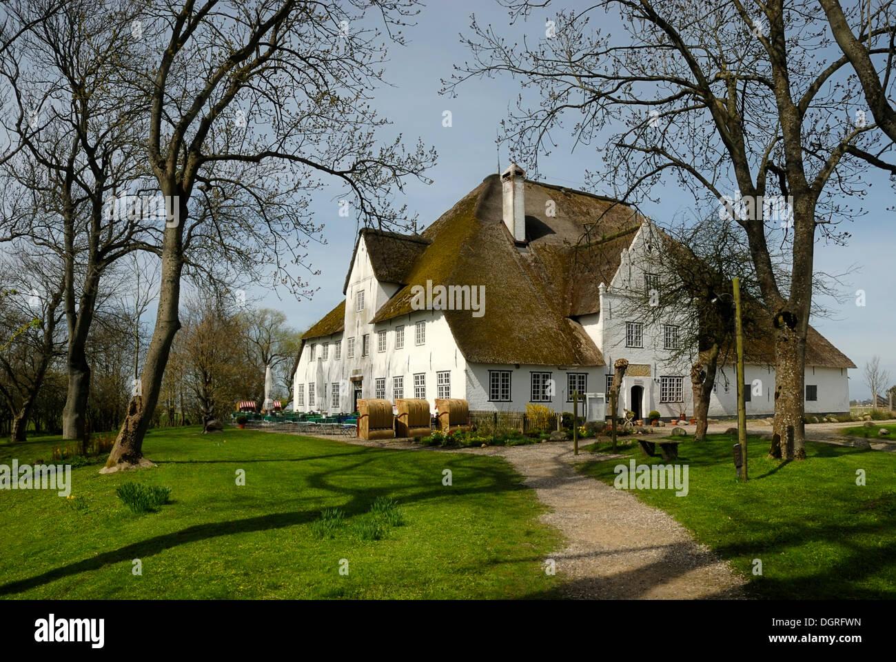 Roter Haubarg, historic farm, 17th Century, near Witzwort, Eiderstedt Peninsula, North Friesland district, Schleswig-Holstein - Stock Image