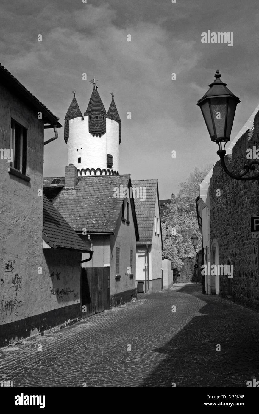 Tower in the historic town center, Steinheim am Main, Rhein-Main region, Hesse - Stock Image