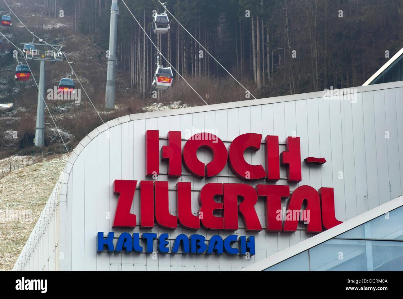 Hochzillertal cableway, Kaltenbach, Zillertal, Austria, Europe - Stock Image