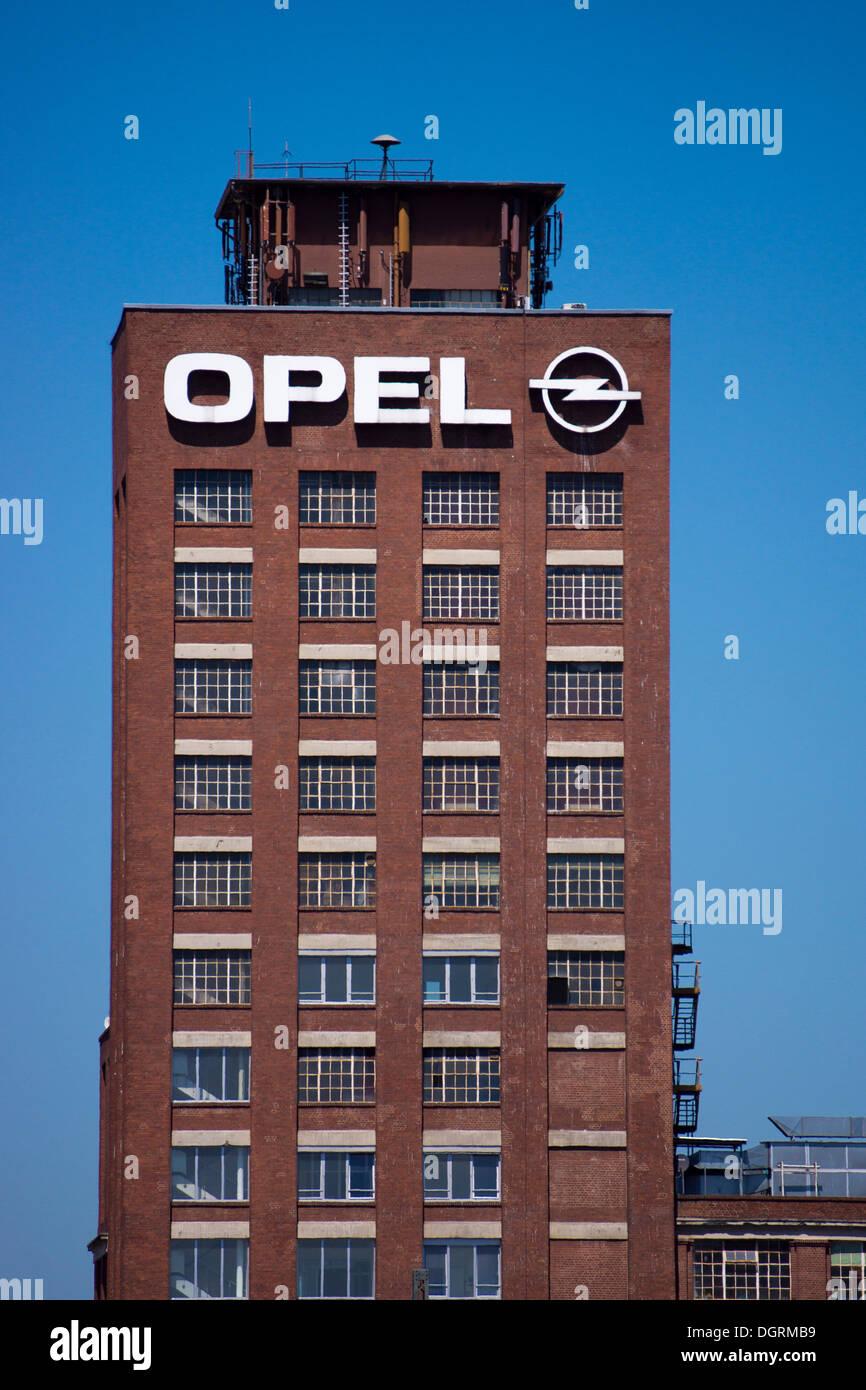 Opel plant in Ruesselsheim, Hesse Stock Photo