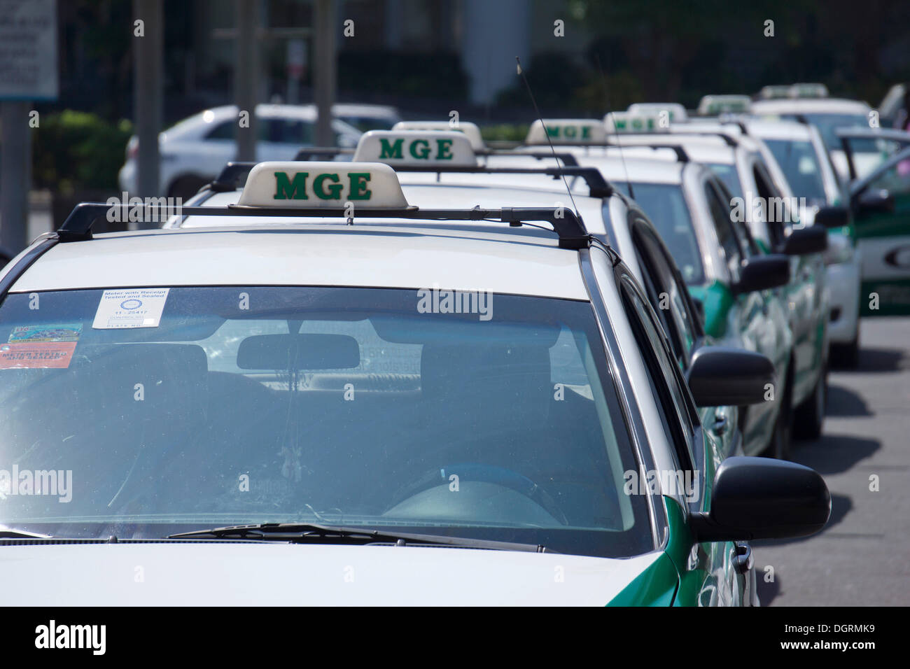 MGE Taxi Depot, Mall of Asia, Pasay City, Manila, Philippines, Asia, PublicGround - Stock Image