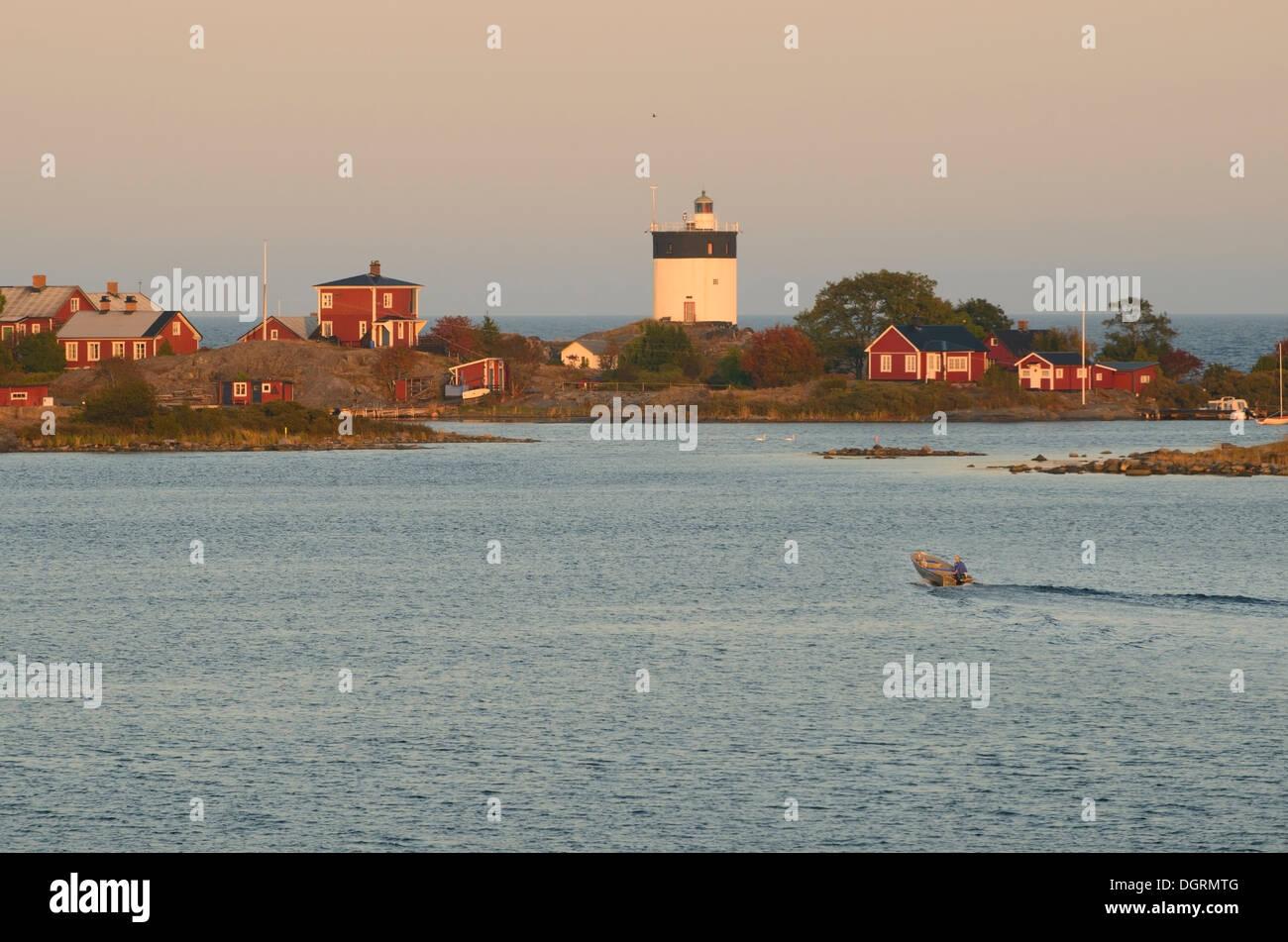 Stockholm archipelago sunset Stock Photo