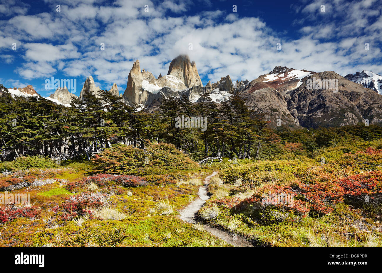 Mount Fitz Roy, Los Glaciares National Park, Patagonia, Argentina - Stock Image