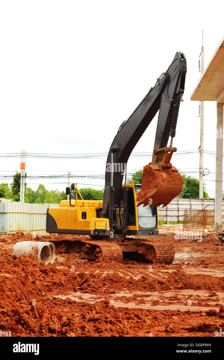 Makro car's lap in the construction. - Stock Image