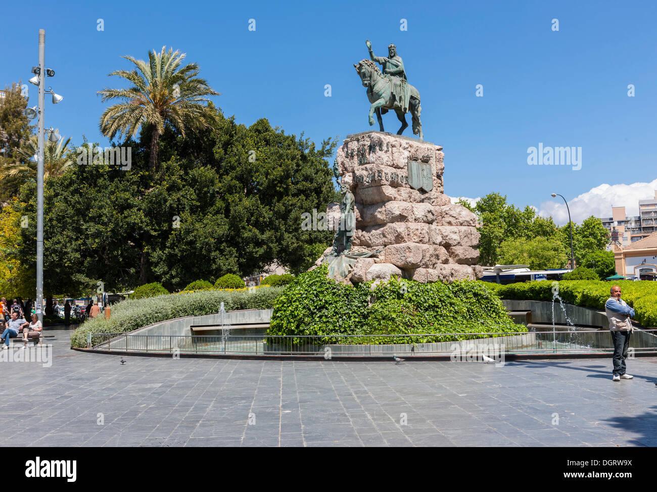 Town centre of Palma, Plaça d'Espanya, old town, Ciutat Antiga, Palma de Mallorca, Majorca, Balearic Islands, Spain, Europe - Stock Image