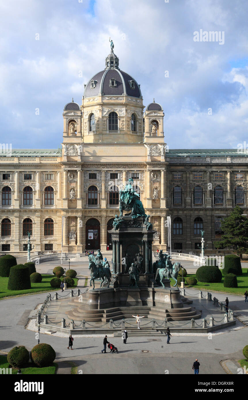 Naturhistorisches Museum, Museum of Natural History at the Maria Theresia Square, Vienna, Austria, Europe - Stock Image