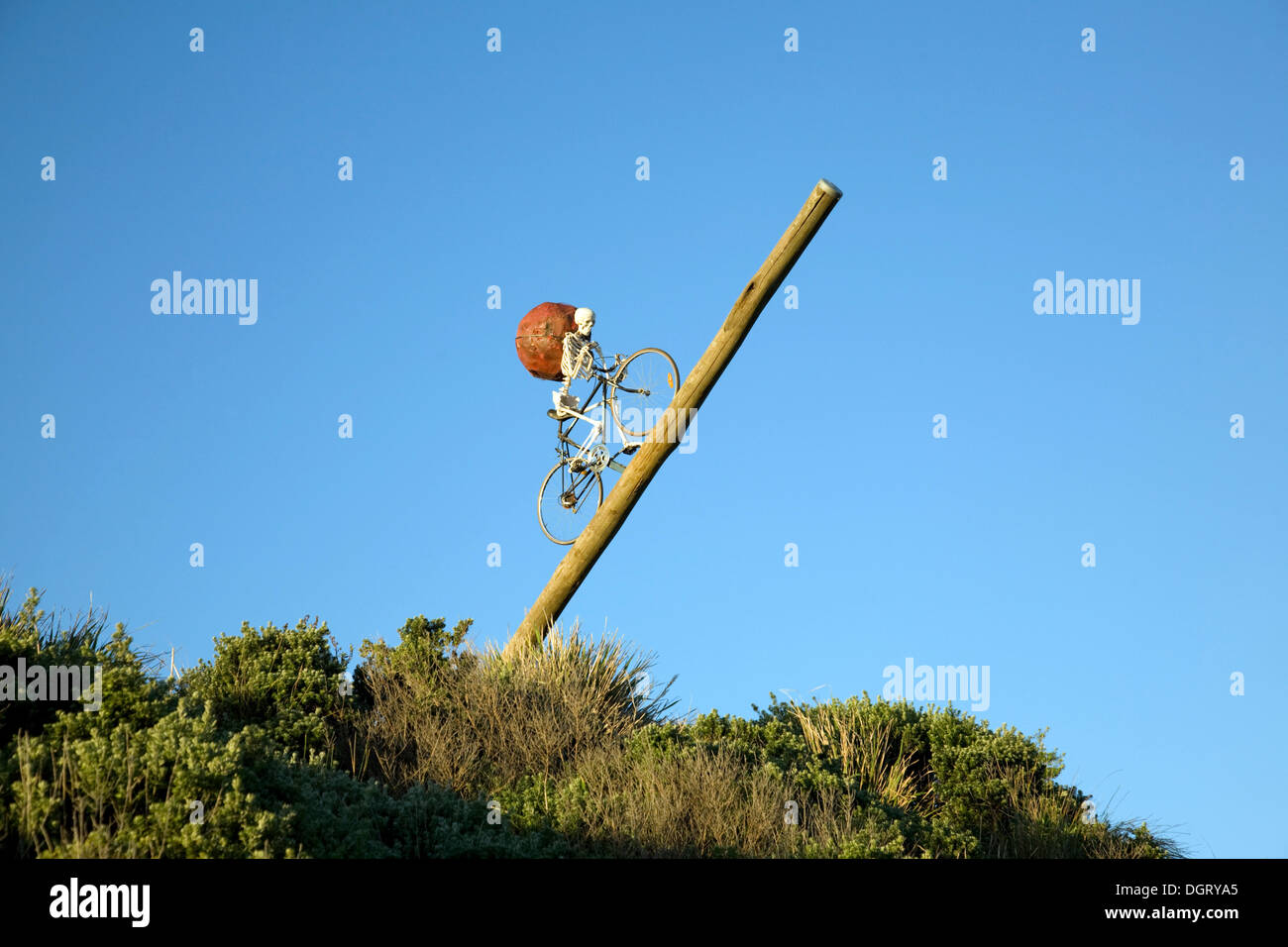 Sydney, Australia. 24th Oct, 2013. Sculpture by the Sea is an annual event along the coast between Bondi and Tamarama beaches in Sydney. Pictured is Theres many a slip...by Ken Unsworth © martin berry/Alamy Live News - Stock Image