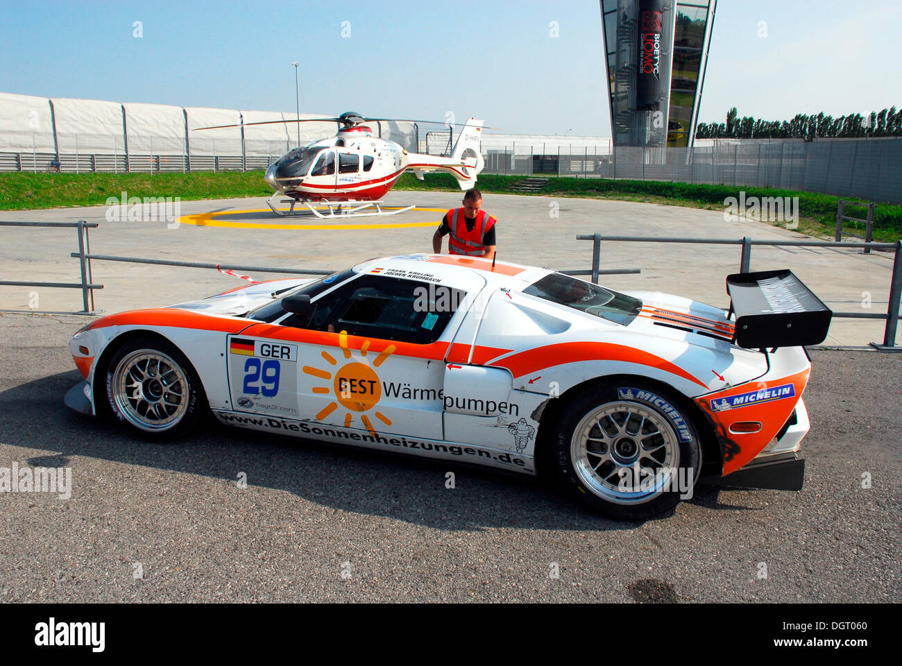Ford Gt  Fia Gt Series With Drivers Kralingen And Krumbach Adria Raceway Italy Europe