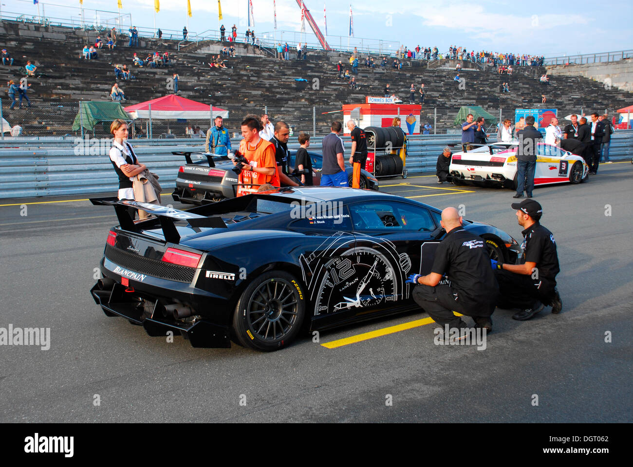 Number 1 racing car is driven by Prince Albert von Thurn und Taxis and Johannes Stuck, Nuremburg, Bavaria - Stock Image