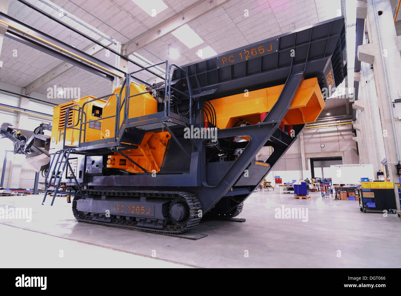 Power crusher which won several design awards, produced in Austria - Stock Image