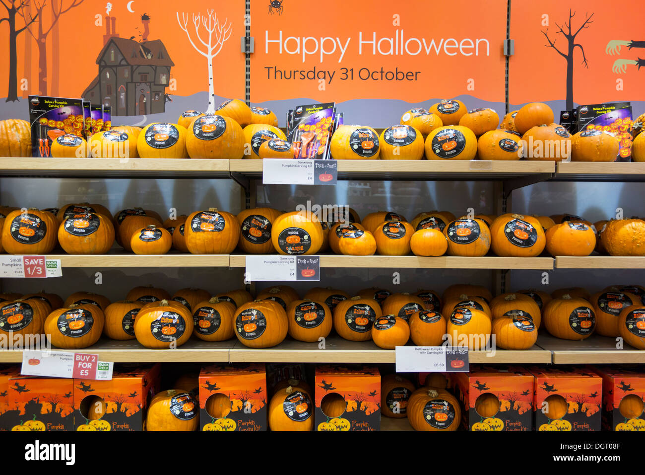 pumpkins halloween merchandise stock photos & pumpkins halloween