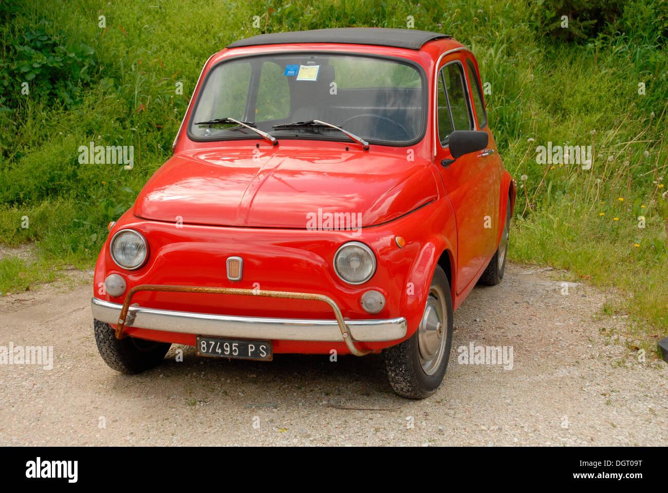 Old Fiat 500 Classic Car Pesaro Italy Europe Stock Photo