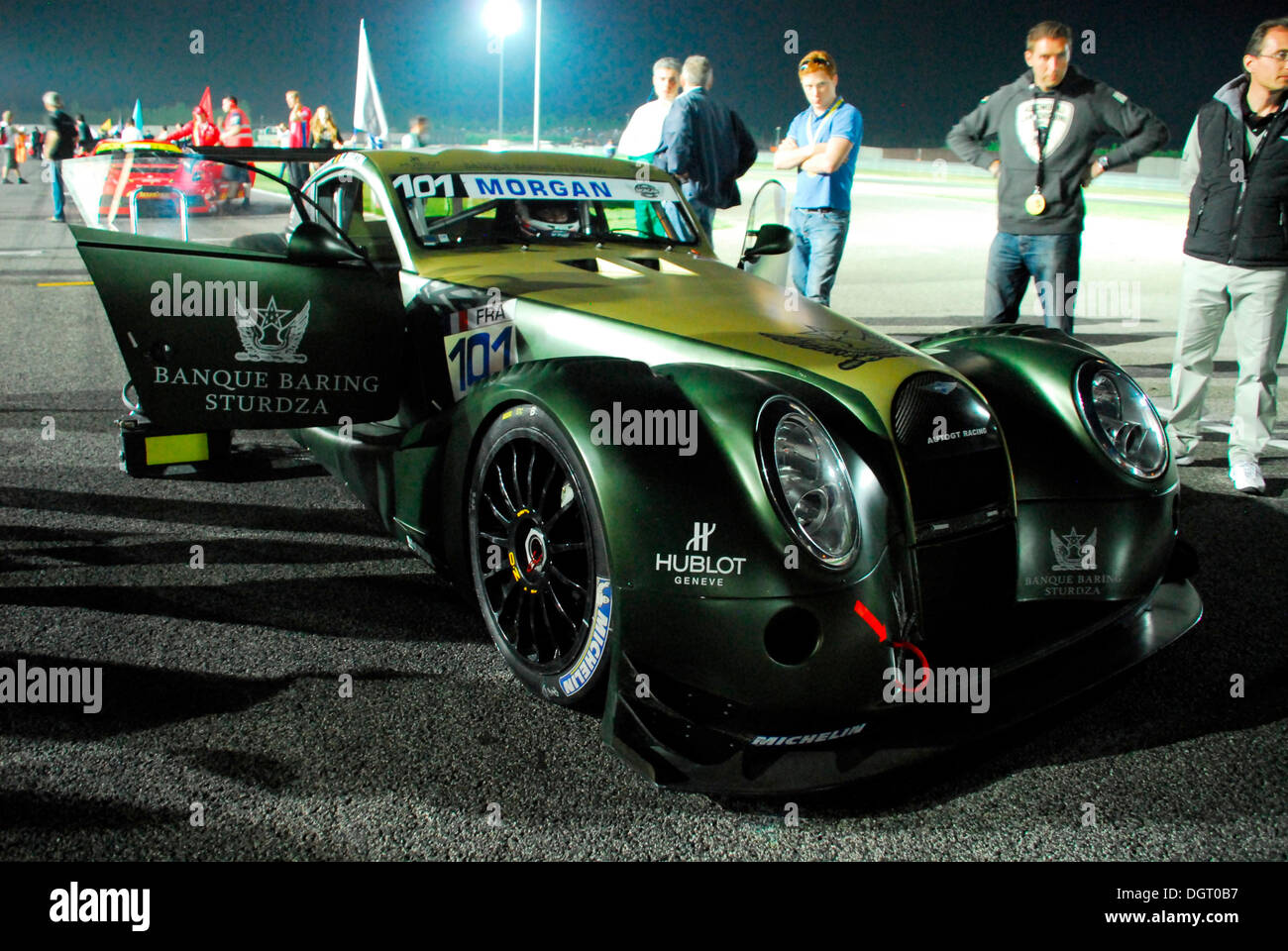 A Morgan racing car in the GT3 series on the race track in Adria, Italy, Europe Stock Photo