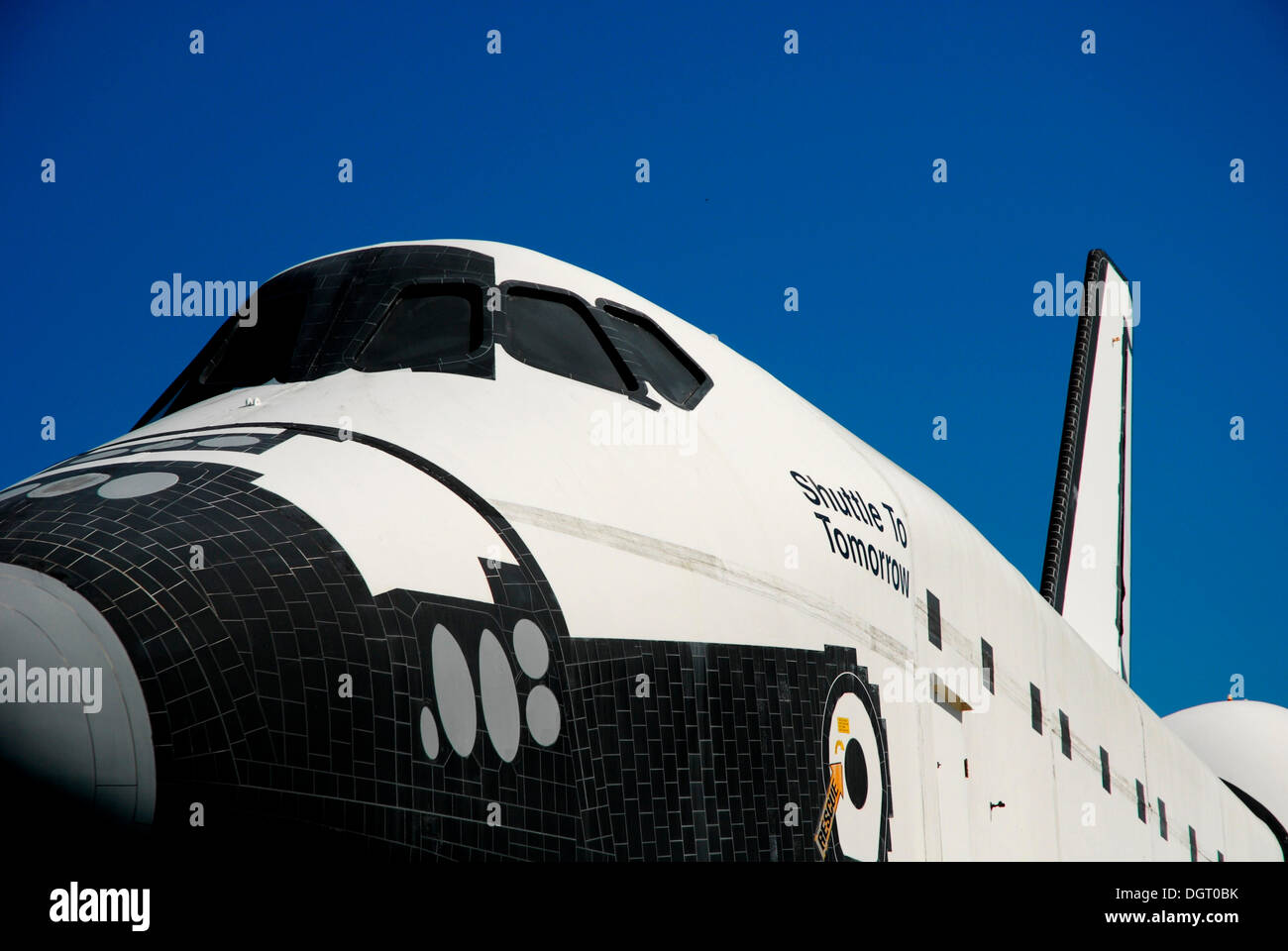 Shuttle to Tomorrow, at the John F. Kennedy Space Center in Cape Canaveral, Florida, USA - Stock Image