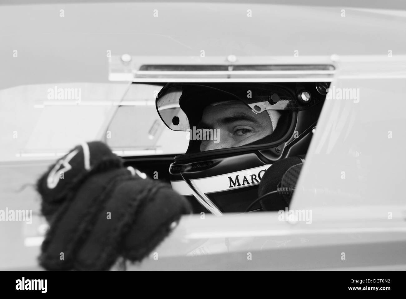 Marc Hayek, racing driver of the Lamborghini Blancpain Super Trofeo and CEO of the Blancpain luxury watch maker - Stock Image
