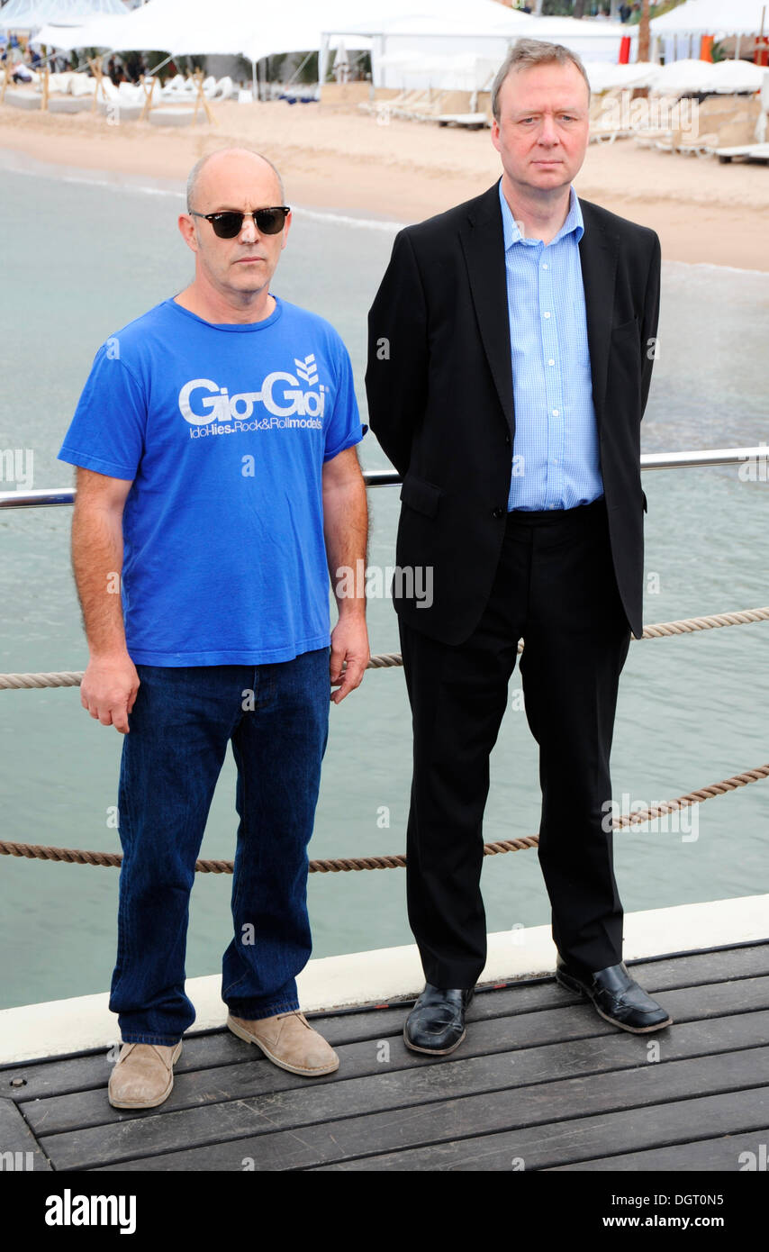 Film director Keith Allen and writer Paul Sparks, photocall for 'Unlawful Killing', 64th International Film - Stock Image