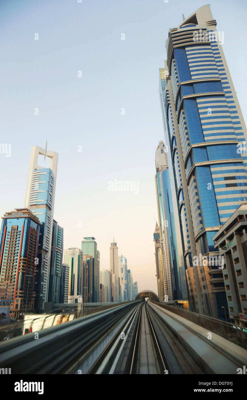 Skyscrapers Modern Architecture Dubai United Arab Emirates