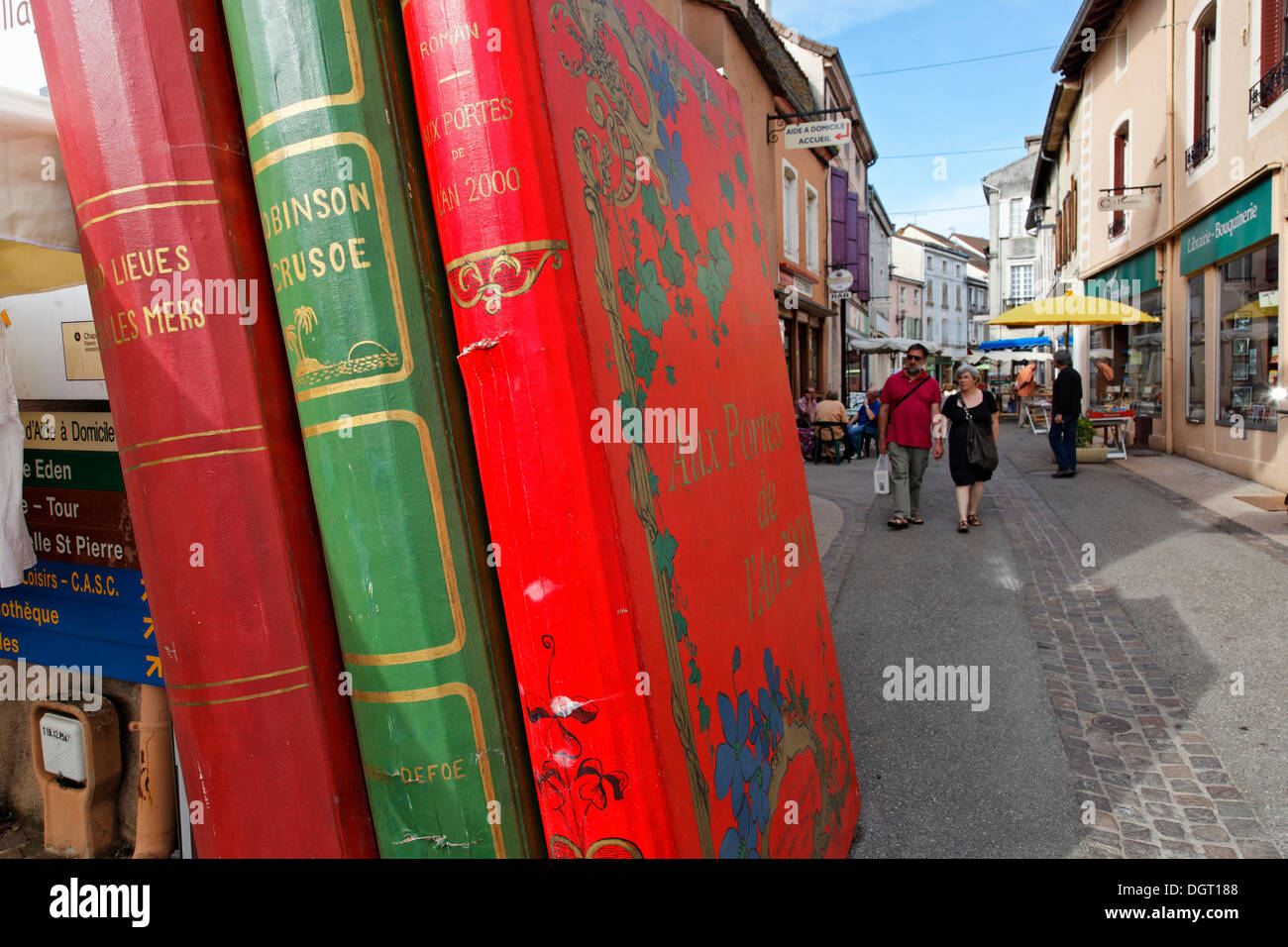 Book village of Cuisery with 15 antique bookstores, Tournus, Burgundy region, department of Saône-et-Loire, France, Europe - Stock Image