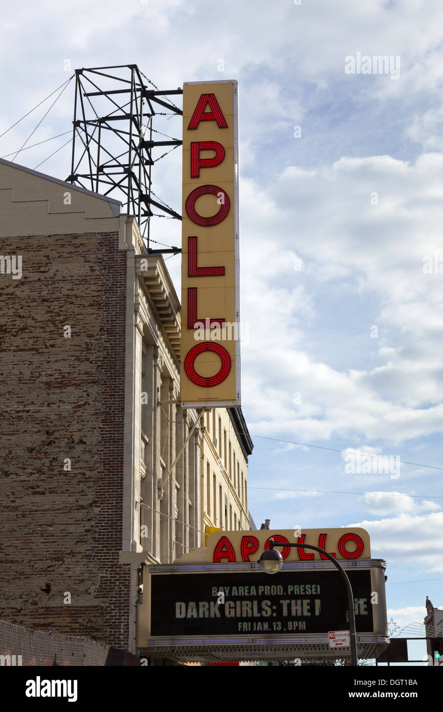 NEW YORK CITY - Sign outside of Apollo Theater on January 8, 2012 in New York City, USA. - Stock Image