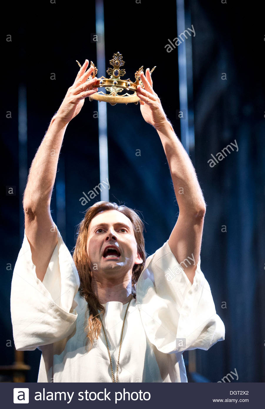 Richard II by William Shakespeare, A Royal Shakespeare Company Production directed by Gregory Doran. With David Tennant as Richard II. Opens at The Royal Shakespeare Theatre, Stratford Upon Avon on 17/10/13 - Stock Image