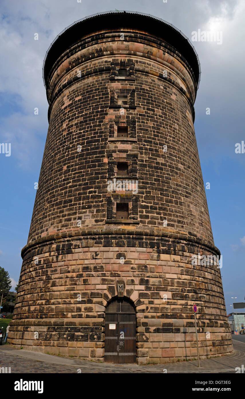 Laufer Torturm gate tower, Rathenauplatz, Laufertorzwinger 1, Nuremberg, middle Franconia, Bavaria - Stock Image