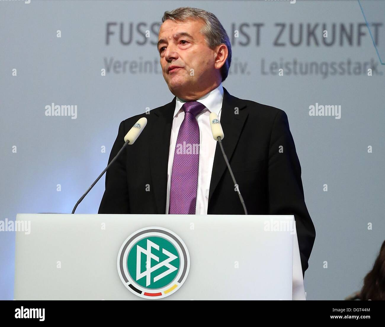 IOC president Dr. Thomas Bach talks to the audience during the DFB Bundestag at the NCC Nuremberg in Nuremberg, - Stock Image