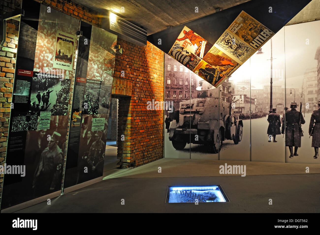 Permanent exhibition, 'Fascination and Violence', exhibition space in the Documentation Centre Nazi Party Rally Grounds - Stock Image